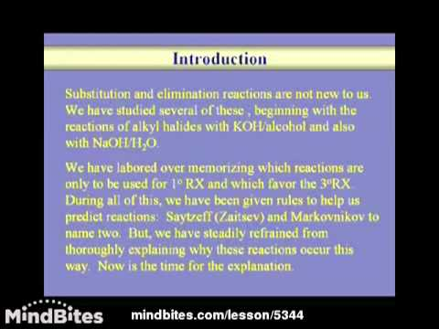 Organic Chemistry: Substitution vs Elimination 1