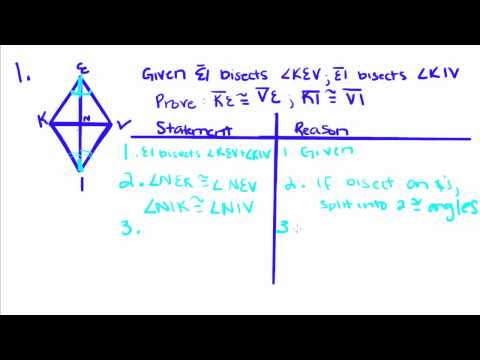 Geometry - 22 - Proofs Using Definition of Bisect