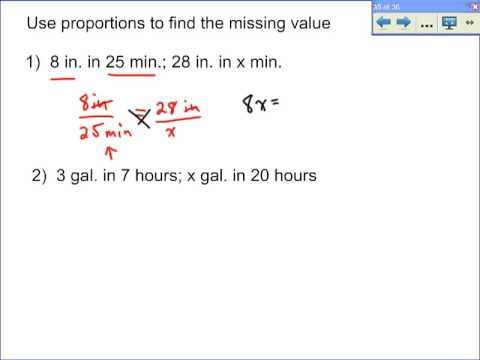 Basic Proportion Problems