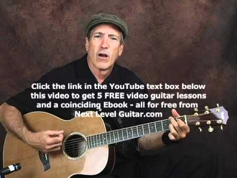 Beginner EZ acoustic rockabilly rhythm guitar lesson with chords and strum patterns