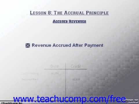 Accounting Tutorial Accrued Revenues Training Lesson 8.3