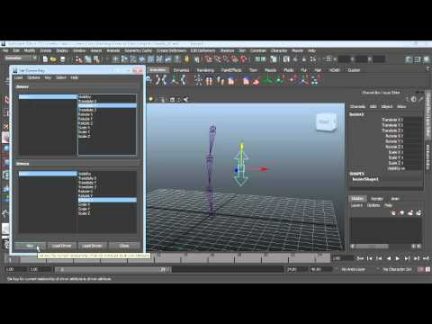 Maya 3-D character rigging: Using set-driven keys | lynda.com tutorial