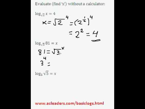 Solving simple log equations - EASY!!!! (Pt. 4 of basic logs)