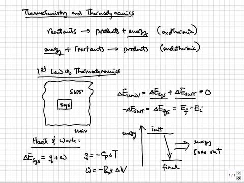 Thermochemistry - First law of thermodynamics | College & AP Chemistry Tutorial 10