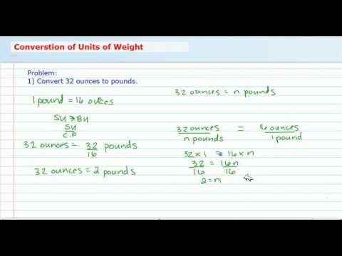 Convert Customary Units of Weight