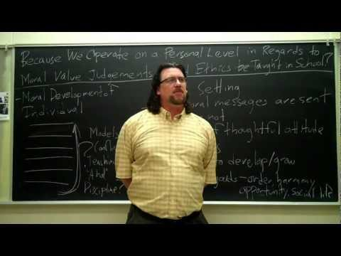 Dr. Sadler's Chalk and Talk #8: Should we Teach Ethics in School?