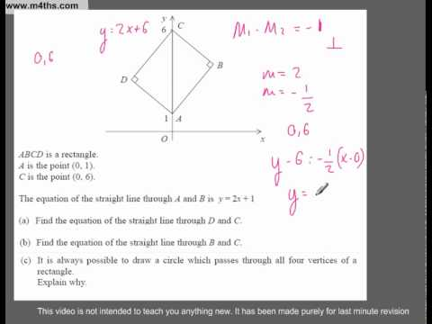 (Q247) A Star GCSE Revision Questions Parallel and Perpendicular lines