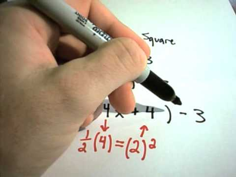 Completing the Square and Vertex Form of Quadratic Equations