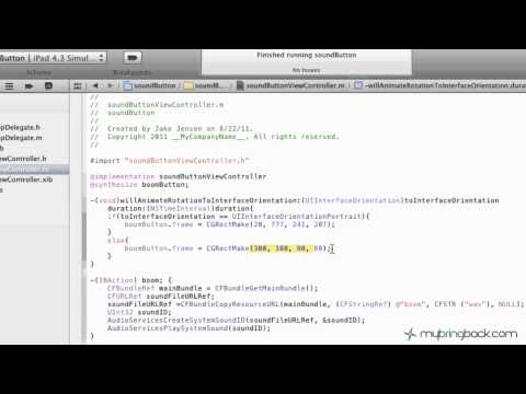 Learn Xcode 4 Tutorial iOS iPad iPhone 1.23 Custom Orient & Sizing pt 2