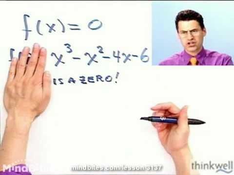 College Algebra: Factor a Polynomials Given a Zero