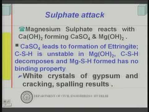 Module 7 Lecture -1 Durability of Concrete