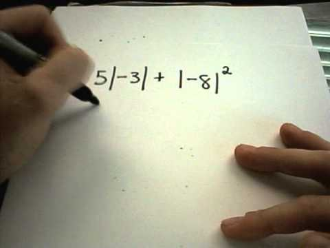 Absolute Value - Basic Examples