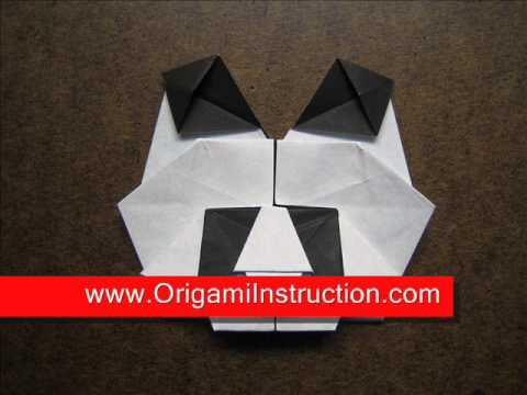 How to Fold Origami Panda Head - OrigamiInstruction.com