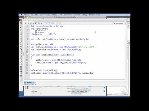 ActionScript, XML: Working with comments and processing instructions   lynda.com