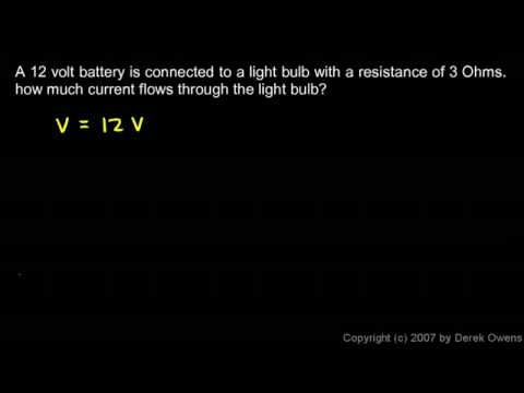 Physical Science 6.4b - Ohm`s Law - Three Simple Examples