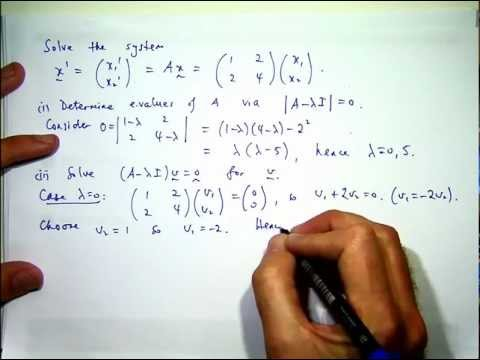 How to solve systems of differential equations