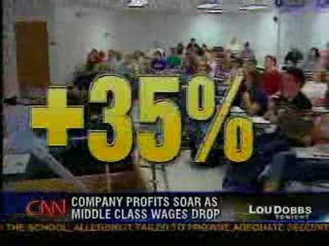 CNN: Middle Class Squeeze - Corporate Profits Up, Wages Down