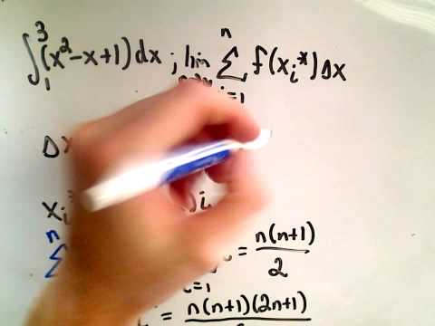 Calculating a Definite Integral Using Riemann Sums - Part 1