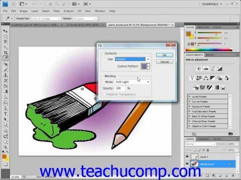 Photoshop Tutorial Using Patterns Adobe Training Lesson 8.5