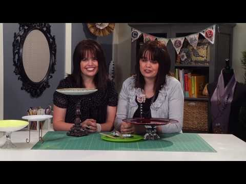 How to Make a Cake Stand - How to make a Cakestand - How to Make a Cakestand from Old Plates