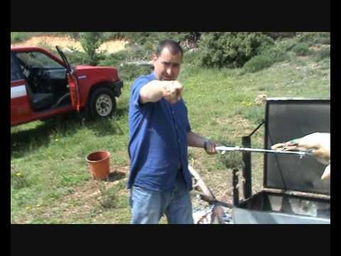 Easter 2009 - roasting a lamb
