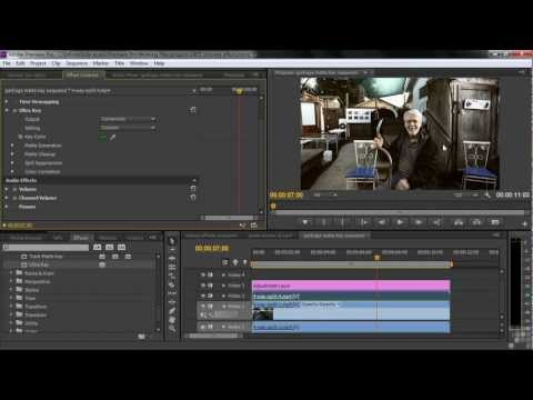 Adobe Premiere Pro CS6 Tutorial | Ultra Key Effect | Infiniteskills