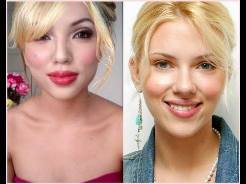 Scarlett Johansson Make-up transformation !!!