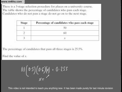 (Q187) A Star GCSE Revision Questions percentage problem