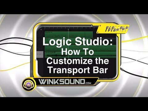 Logic Studio: How To Customize the Transport Bar