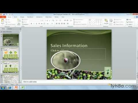 How to use the PowerPoint Paste Preview feature | lynda.com tutorial
