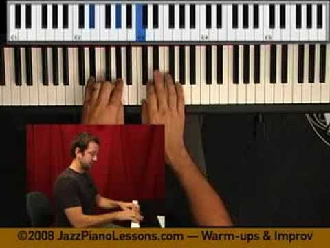 Learn the piano - warmups and improvisation - jazz piano