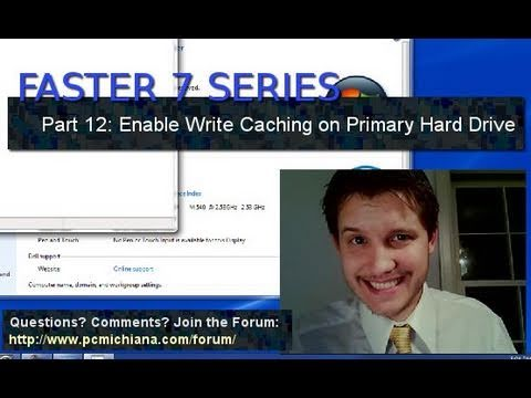 How To Enable Windows 7 Hard Drive Write Caching - Ep. 12
