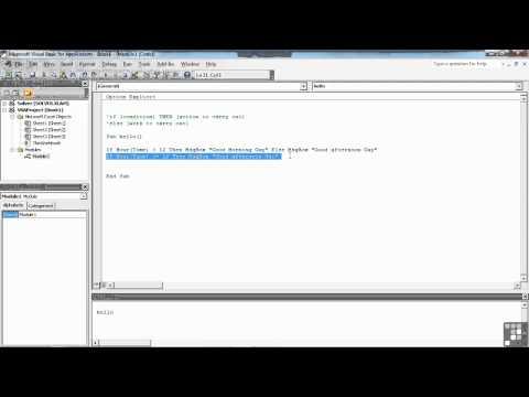 Visual Basic for Excel Tutorial | Program flow with IF THEN ELSE | InfiniteSkills