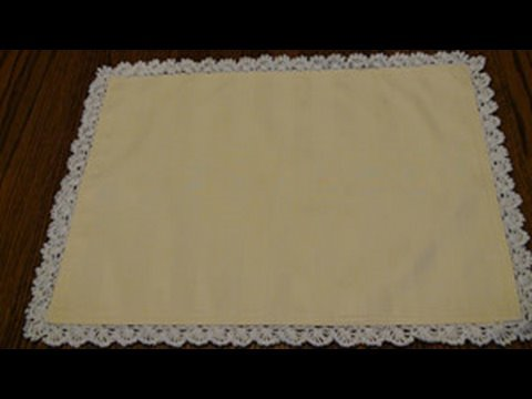 Thread Crochet Edging for Placemat - Blanket Stitch