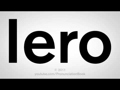 How To Pronounce Iero