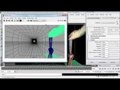 Fine-tuning fluid dynamics in Maya | lynda.com tutorial