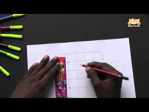 Write Block Style Alphabet 'C'  - Arts & Crafts