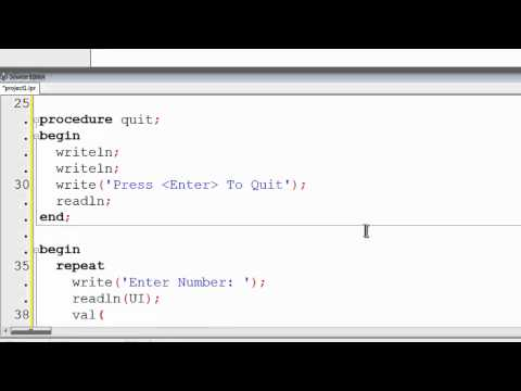 Free Pascal Program Tutorial 17 - Function Examples - Lazarus