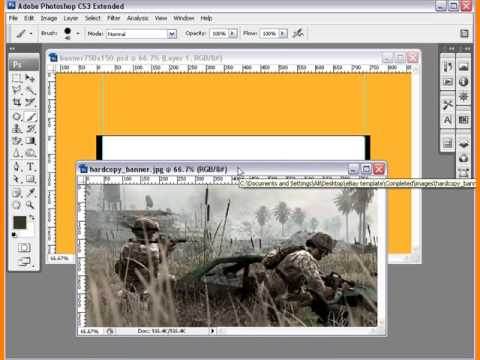 Create eBay Template Tutorial Create Banner Lesson 2