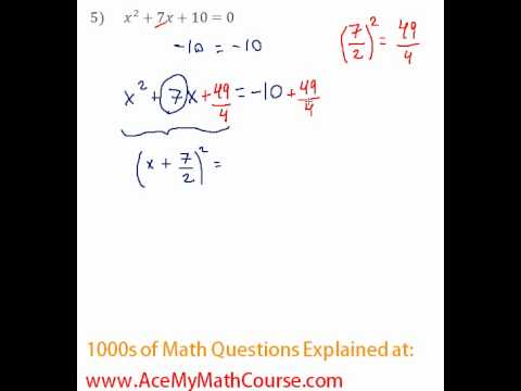 Solving by Completing the Square #5