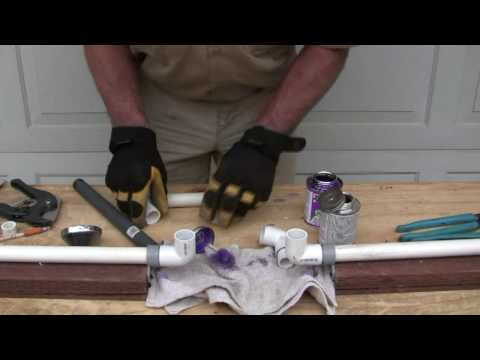 How to repair PVC pipe: The four 90's  method