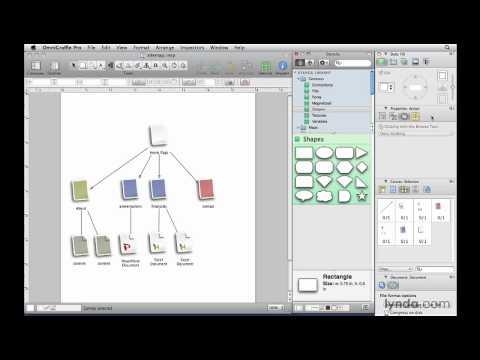 OmniGraffle: Understanding the Stencil window and inspectors | lynda.com