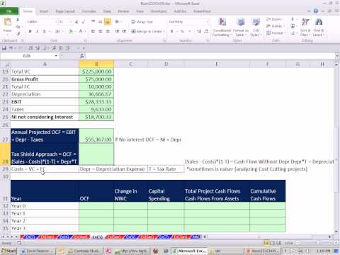 Excel Finance Class 83: Estimating Cash Flows For NPV calculation