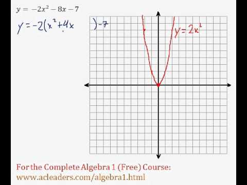 (Algebra 1) Quadratics - Graphing Quadratic Functions (General Form) Pt. 9