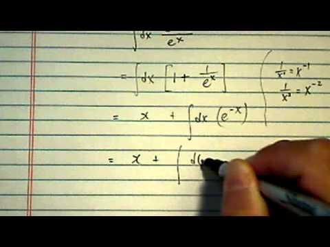 Integral (antiderivative) of:  (e^x+1)/e^x