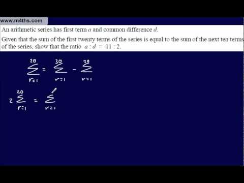 (14) Core 1 Arithmetic Sequences & Series (exam questions on differences)