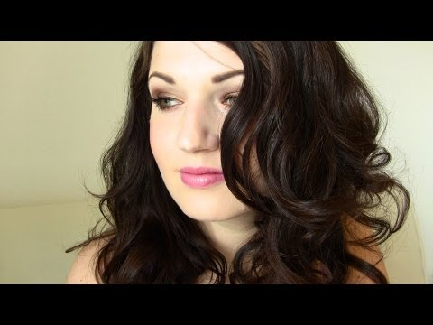 Hot Rollers Hair Tutorial: Big Bouncy Curls