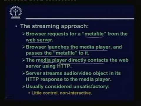 Lecture - 36 Streaming Multimedia Applications
