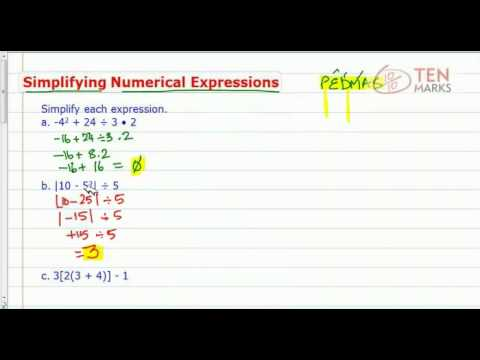 Simplify Numerical Expressions