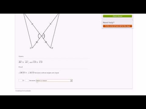 Basic Triangle Proofs Module Example